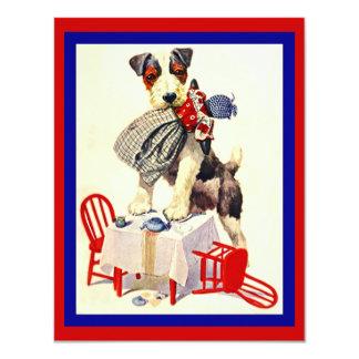 CUTE DOG & DOLL TEA PARTY INVITE ~ EZ2CUSTOMIZE