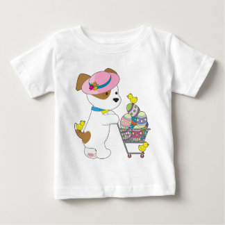 Cute Dog Easter Eggs Baby T-Shirt