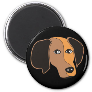 Cute dog face 2 inch round magnet