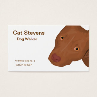 Cute Dog Face Business Card