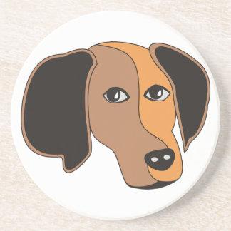 Cute dog face coaster