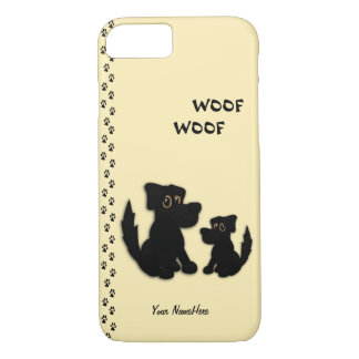 Cute Dog Family Personal iPhone 7 Case