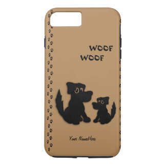 Cute Dog Family Personal iPhone 7 Plus Case