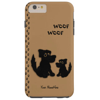 Cute Dog Family Personal Tough iPhone 6 Plus Case