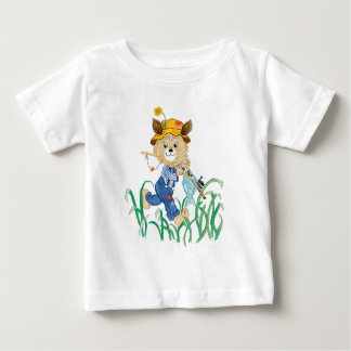 Cute Dog Going Fishing Baby T-Shirt
