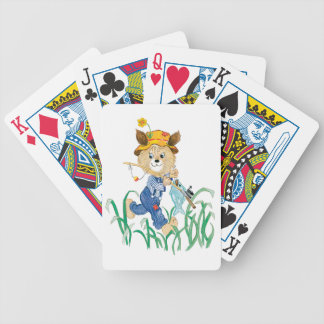 Cute Dog Going Fishing Bicycle Playing Cards
