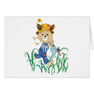 Cute Dog Going Fishing Card