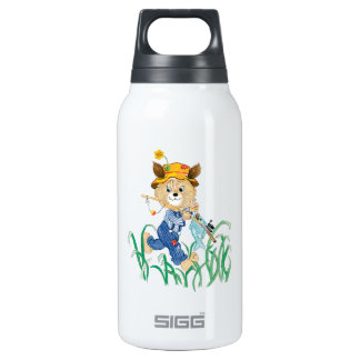 Cute Dog Going Fishing Insulated Water Bottle