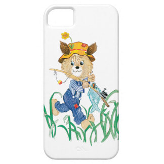 Cute Dog Going Fishing iPhone SE/5/5s Case