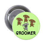 Cute Dog Groomer Occupation Gift Pins
