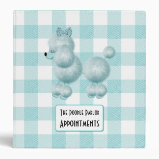 Cute Dog Groomers Appointment Binder