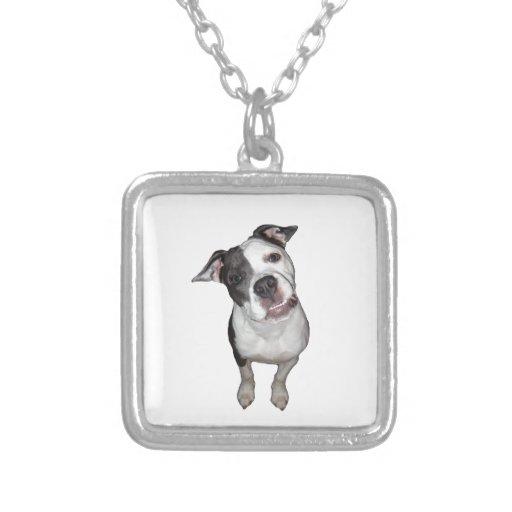 Cute dog head tilt personalized necklace