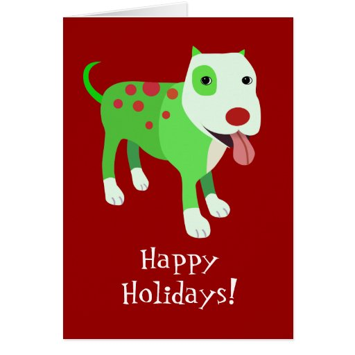 Cute Dog Holiday Card