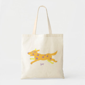 """Cute dog-""""hunt"""" in yiddish budget tote bag"""