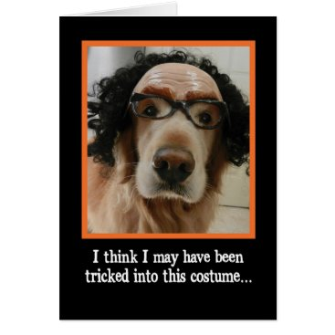 Halloween Themed Cute Dog in Funny Mask Halloween Card