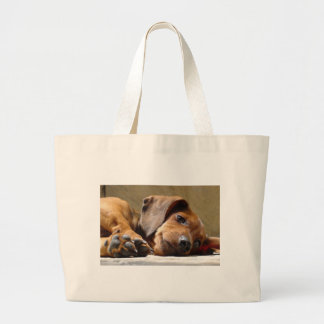 Cute dog large tote bag
