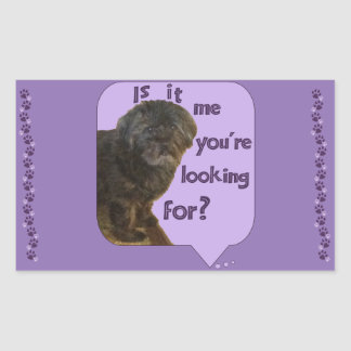 Cute Dog looking for You Rectangular Sticker