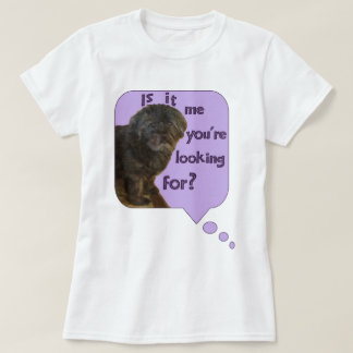 Cute Dog looking for You T Shirt