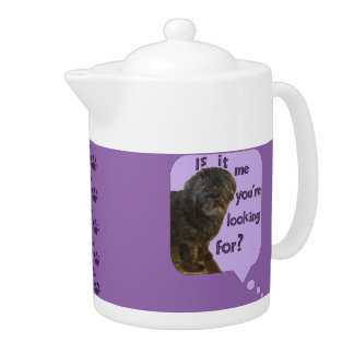 Cute Dog looking for You Teapot