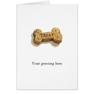 Cute dog lover art fun painting dogs treat biscuit cards