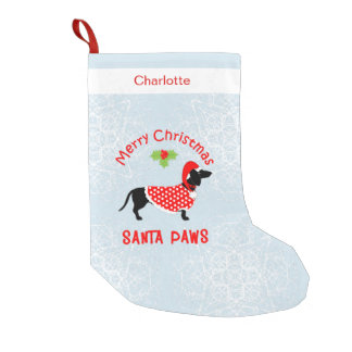 Cute Dog Lovers Personalized Small Christmas Stocking