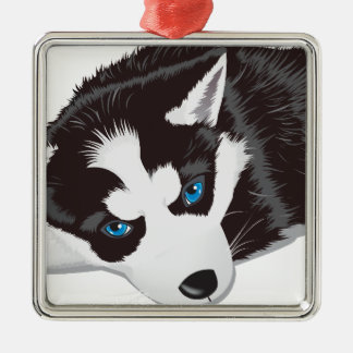 Cute Dog Metal Ornament