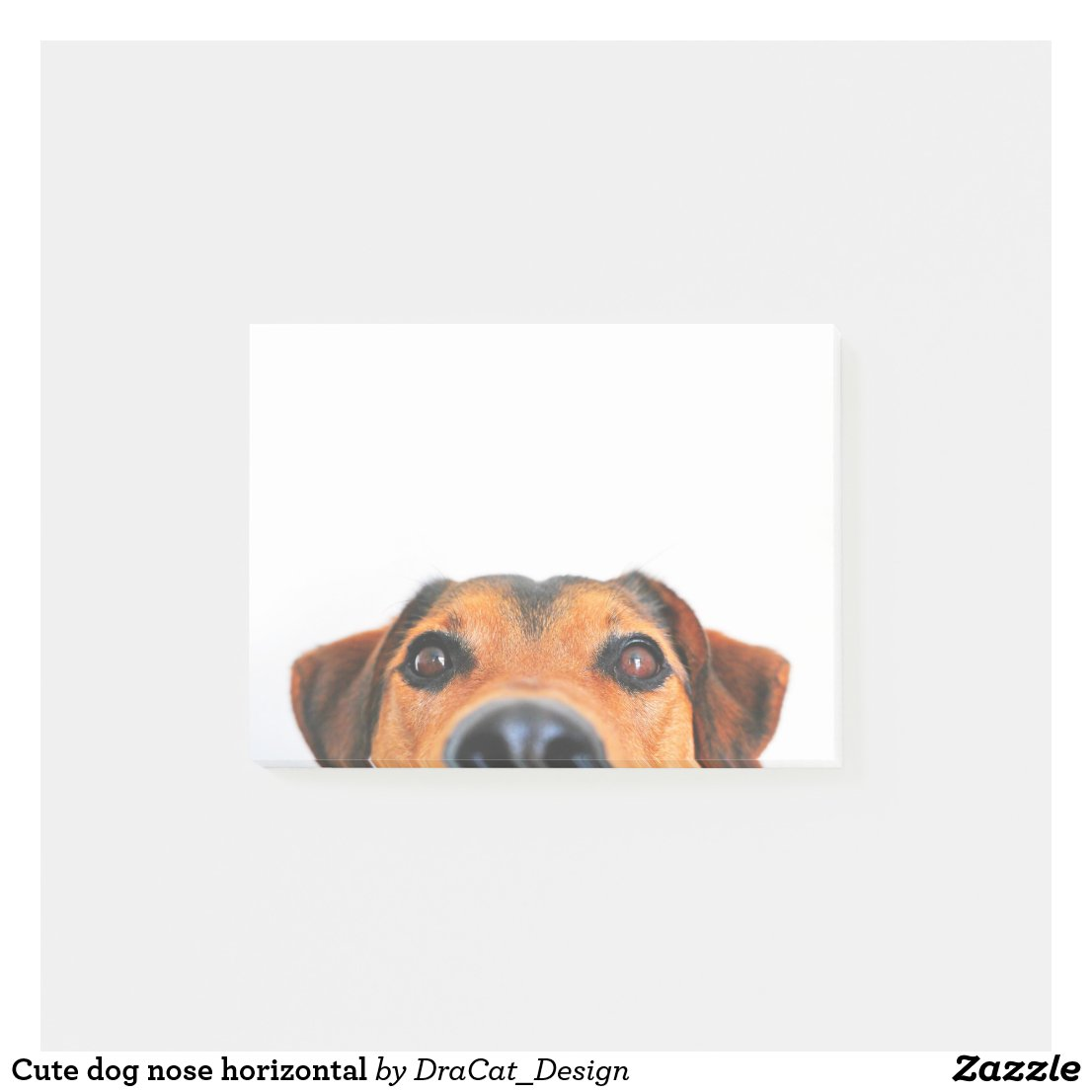 Cute dog nose horizontal post-it notes