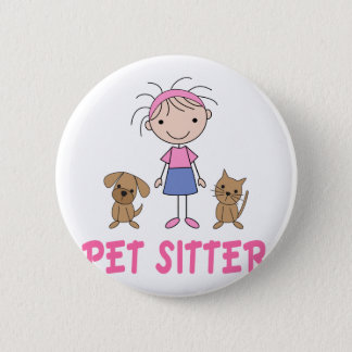 Cute Dog Occupation Pet Sitter Pinback Button