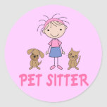 Cute Dog Occupation Pet Sitter Stickers