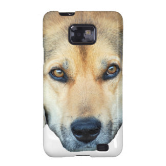 Cute dog on any color background galaxy SII cases