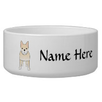 Cute Dog. Pale Cream French Bulldog. Bowl