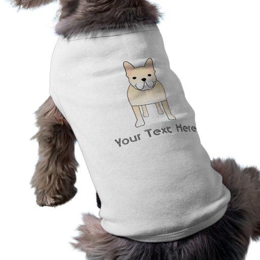 Cute Dog. Pale Cream French Bulldog. Doggie Tshirt