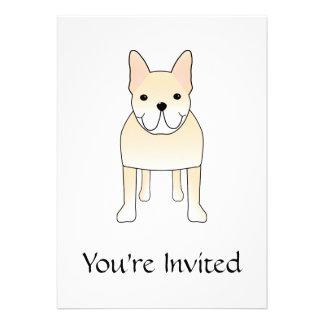 Cute Dog. Pale Cream French Bulldog. Custom Invitation