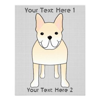 Cute Dog. Pale Cream French Bulldog. Invitations