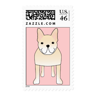 Cute Dog Pale Cream French Bulldog Postage Stamps
