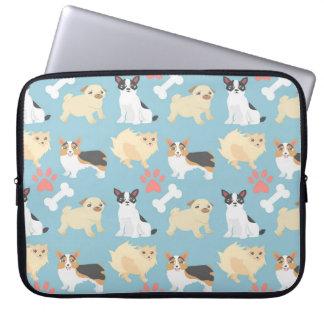 Cute Dog Pattern Laptop Sleeve