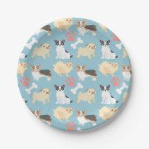 Cute Dog Pattern Paper Plate