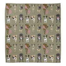 Cute dog patterned print bandana