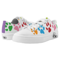 Cute Dog Paw Print Pattern Low-Top Sneakers