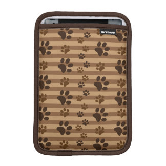 Cute Dog Paw Prints Brown iPad Mini Sleeve