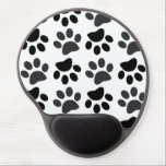 "Cute Dog Paw Prints Gel Mousepad<br><div class=""desc"">Lovely and Cute dog foot prints for dog lovers.</div>"