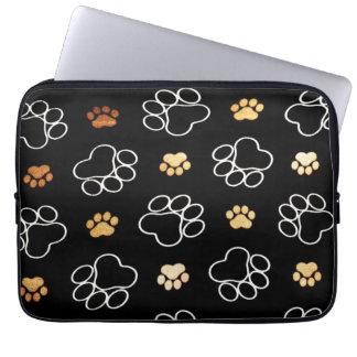 "Cute Dog Pawprints Tracks, Laptop Sleeve 13"""