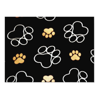 Cute Dog Paws Personalized Announcements
