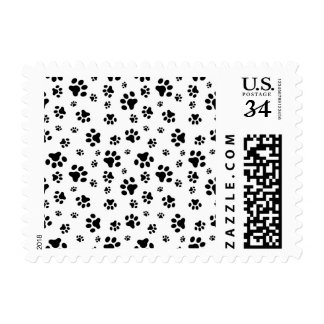 Cute Dog Paws Pattern Postage