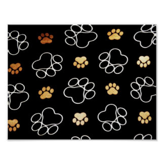 Cute Dog Paws Poster