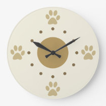 Cute Dog Paws Wall Clock