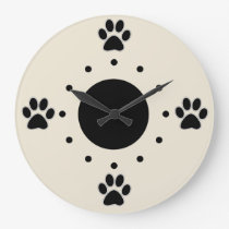 Cute Dog Paws Wall Clocks