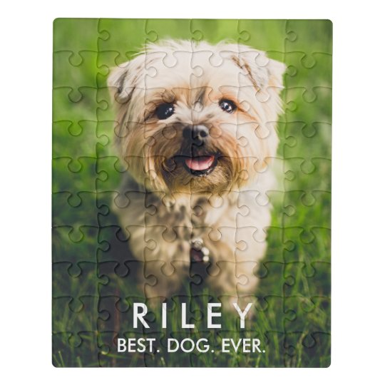 Image result for Cute Dog Personalized Pet Photo Custom Jigsaw Puzzle
