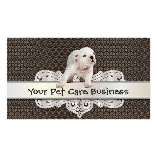cute dog pet care business card zazzle