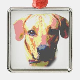 Cute Dog Picture Metal Ornament